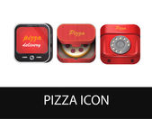 Pizza icon set — Stock Vector