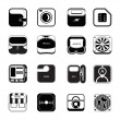 Icons set travel — Image vectorielle