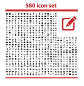 580 icons set — Stock Vector