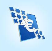 Dollar puzzle — Stock Vector