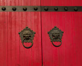 Old chinese door — Stock Photo