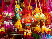 Colourful souvenirs in china — Stock Photo
