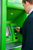 ATM money withdraw — Stock Photo
