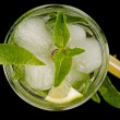 Fresh mojito cocktail top view — Stock Photo
