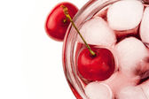 Cherry cocktail top view — Stock Photo