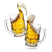 Clink glasses of beers — Stock Photo