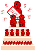 Rus tarzı. bebek. logo. — Stok Vektör