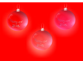 Greeting the new year. Ball on the Christmas tree — ストックベクタ