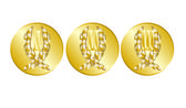 Gold medals for the pedestal — Stock Vector