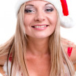 Young woman wearing santa claus clothes — Stock Photo #13386535