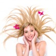 Lady with magnificent blond hair — Stock Photo