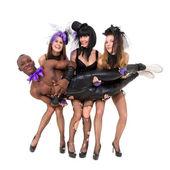 Sexy cabaret dancers posing — Stock Photo