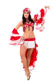 Young carnival dancer posing — Stock Photo