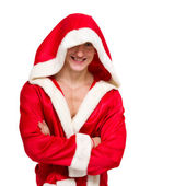 Muscular man wearing a Santa Claus clothes — Stock Photo