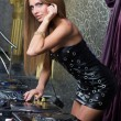 Beautiful and sexy DJ woman — Stock Photo