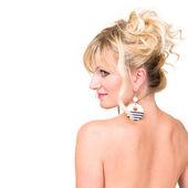 Attractive woman profile — Stock Photo