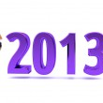 Erotic cabaret dancers posing with Happy New Year 2013 — Stock Photo #14143236