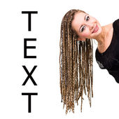 Woman with dreadlocks — Stock Photo