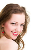 Friendly smiling young woman portrait — Stock Photo