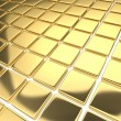 Royalty-Free Stock Photo: Abstract background with reflecting gold squares