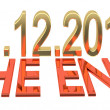Date of doomsday on December 2012 - Stock Photo