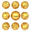 Stock Photo: Abstract deformed golden balls
