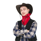 Young handsome cowboy — Stockfoto