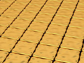 Gold deformed cubes background — Stock Photo