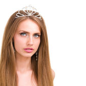 Girl with diadem — Stock Photo