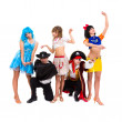 Dancers in carnival costumes — Stock Photo