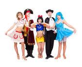 танцоры в карнавальных костюмах — Стоковое фото