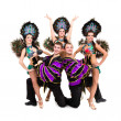 Dancers in carnival costumes posing — Stock Photo #20068947