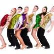 Stock Photo: Disco dancer team