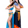 Постер, плакат: Dancers couple dressed in Egyptian costumes posing