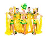 Sexy carnaval dansers poseren — Stockfoto