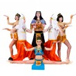Dancers dressed in Egyptian costumes posing — Stock Photo