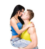 Attractive couple being playful — Stock Photo