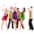 Stock Photo: Disco dancer team dancing