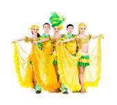 Sexy karneval tänzer posieren — Stockfoto