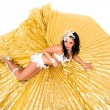 Belly dancer lying — Stock Photo #23460384