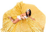 Belly dancer lying — Stock Photo