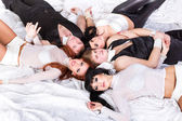 Portrait of five happy friends — Stock Photo