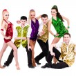 Royalty-Free Stock Photo: Disco dancer team. Isolated on white.