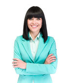 Confident business woman smiling — Stock Photo