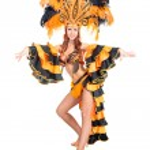 Carnaval danser vrouw dansen — Stockfoto