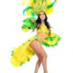 Karneval Tänzerin Frau tanzen — Stockfoto #38715713