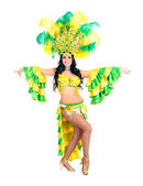 Karnevalové tanečnice ženy tančí — Stock fotografie