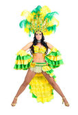 Carnival dancer woman dancing — Stock Photo