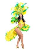Carnival dancer woman dancing — Stock Photo