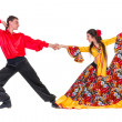 Gypsy flamenco dancer couple — Stock Photo #46260307